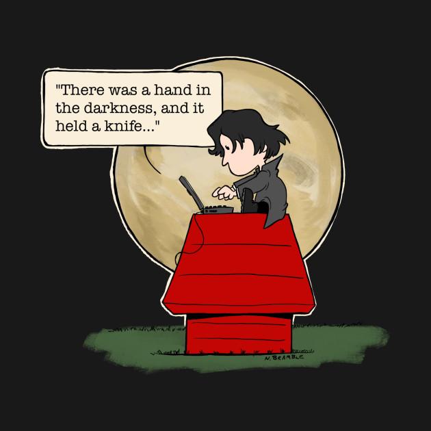 Neil Gaiman Writing by Moonlight