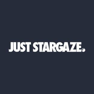 Just Stargaze White available through Teepublic.com