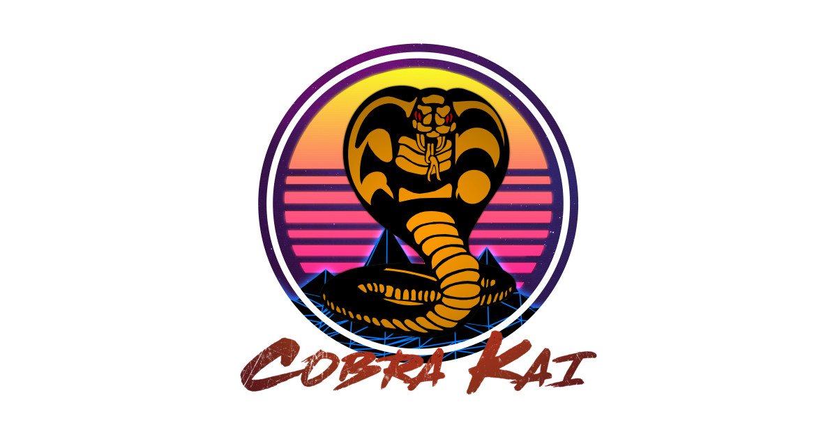 Cobra Kai Logo Retro - Cobra Kai - T-Shirt | TeePublic