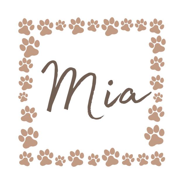 Pet name tag - Mia