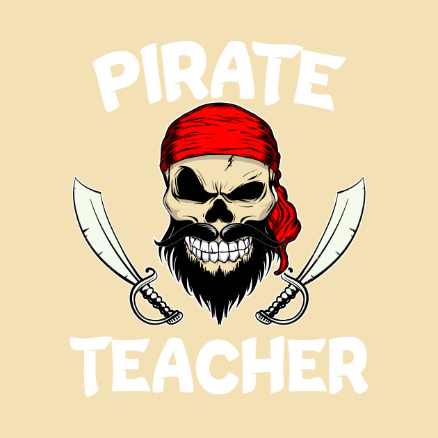 Pirate Teacher Elementary School Funny Halloween teacher T-Shirt
