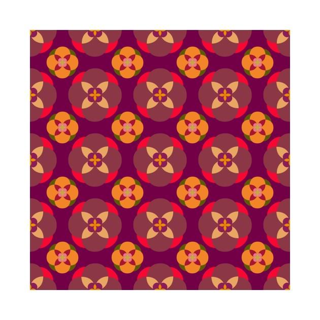 6487abacc Maroon Floral Pattern - Floral - Onesie   TeePublic
