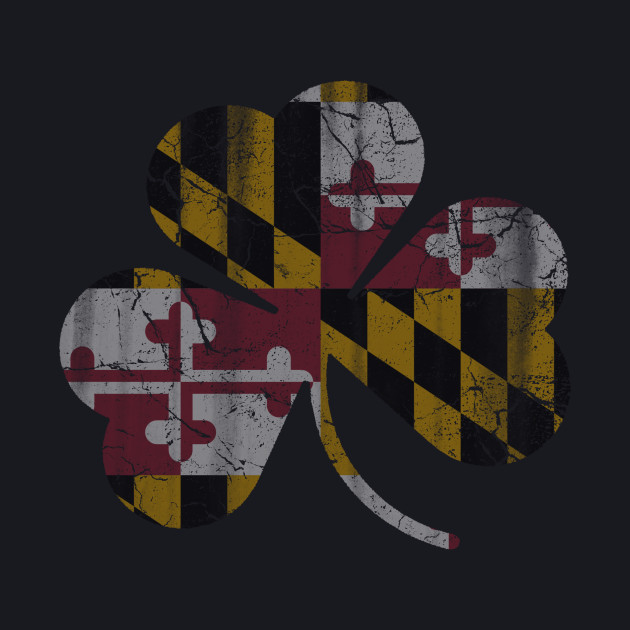 State Flag of Maryland Flag Shamrock