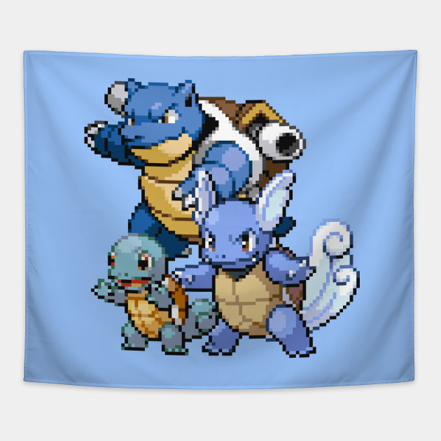 Water Pokemon Pixel Art Pokemon Tapestry Teepublic