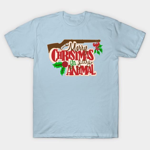 Merry Christmas Ya Filthy Animal Shirt.Merry Christmas Ya Filthy Animal