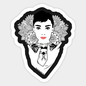 Audrey Hepburn Stickers | TeePublic