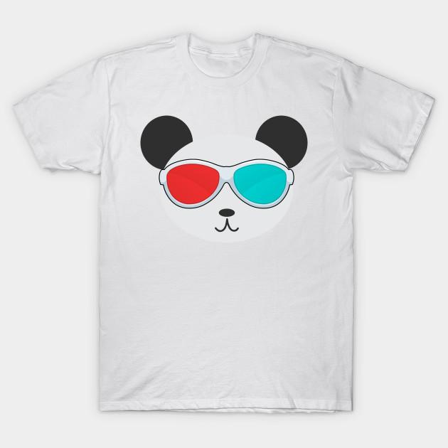 7075367d1106 Panda 3D - Cute Panda Bear - T-Shirt