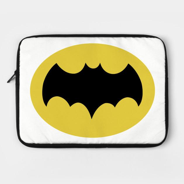 Batman 66 Small Logo Batman Laptop Case Teepublic