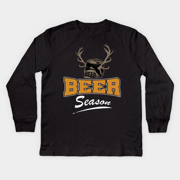 34e2bc2e Beer Season Funny Deer Hunter Gift - Deer Hunting - Kids Long Sleeve ...