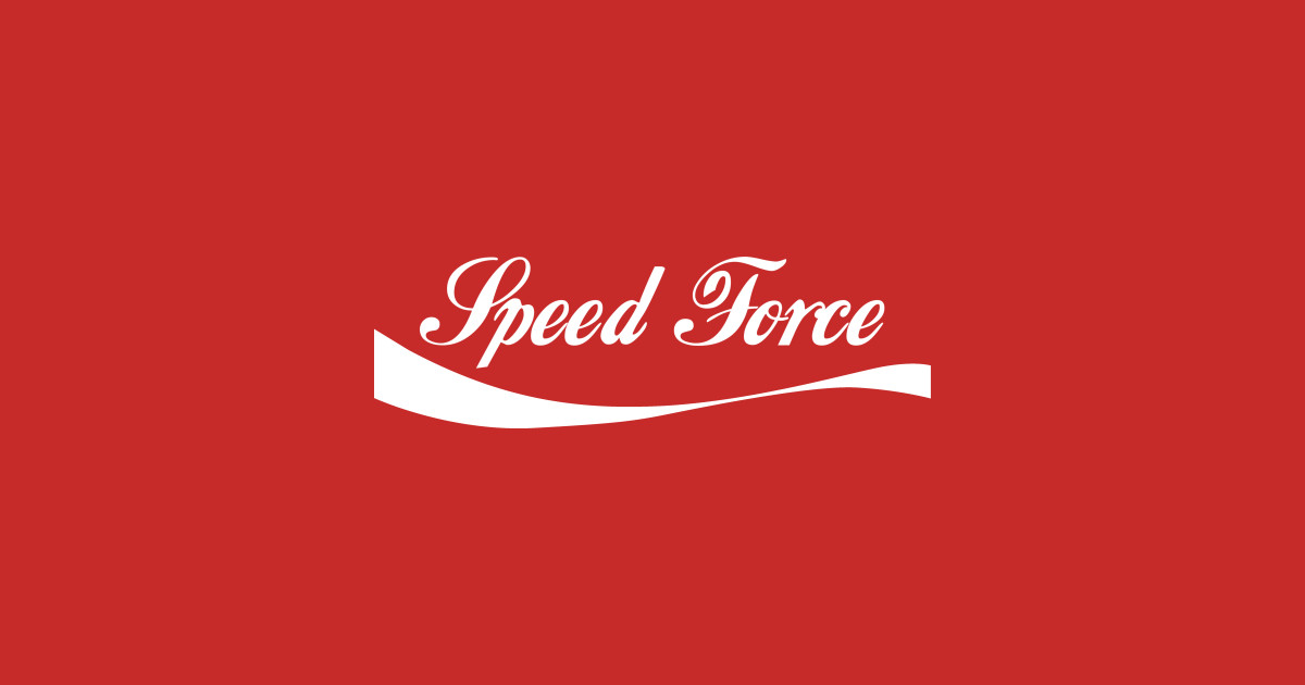 Speed force coke style speed force t shirt teepublic