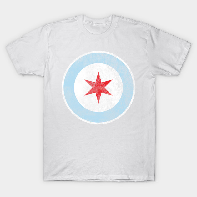 City Of Chicago Flag Star Chicago T Shirt Teepublic