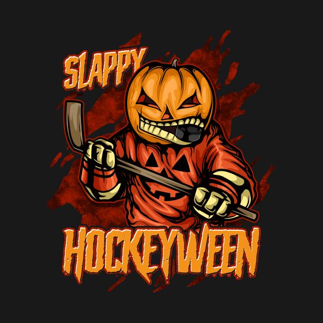 Hockey Slappy Hockeyween Sports Humor