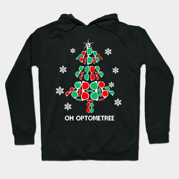 Funny Christmas Oh Optometree Sunglasses Christmas Tree Christmas Design Hoodie