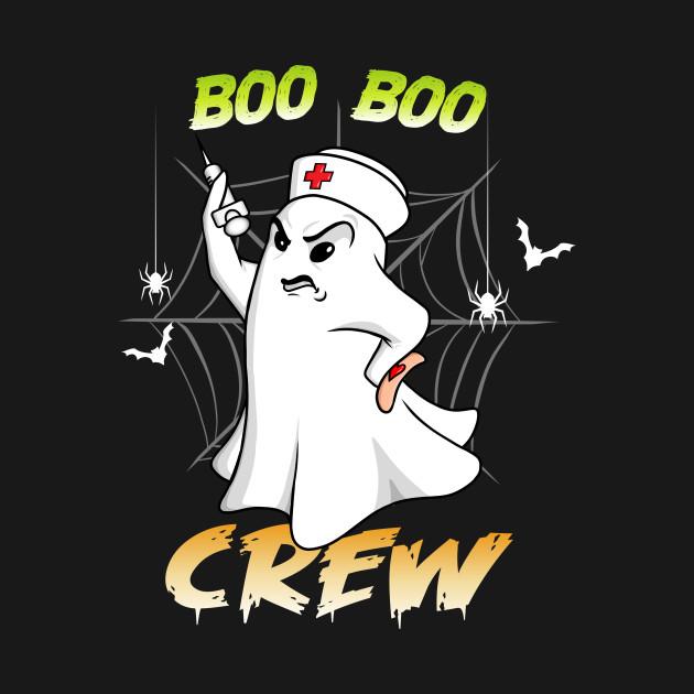 Boo Boo Crew Nurse Ghost Funny Halloween Costume Gift