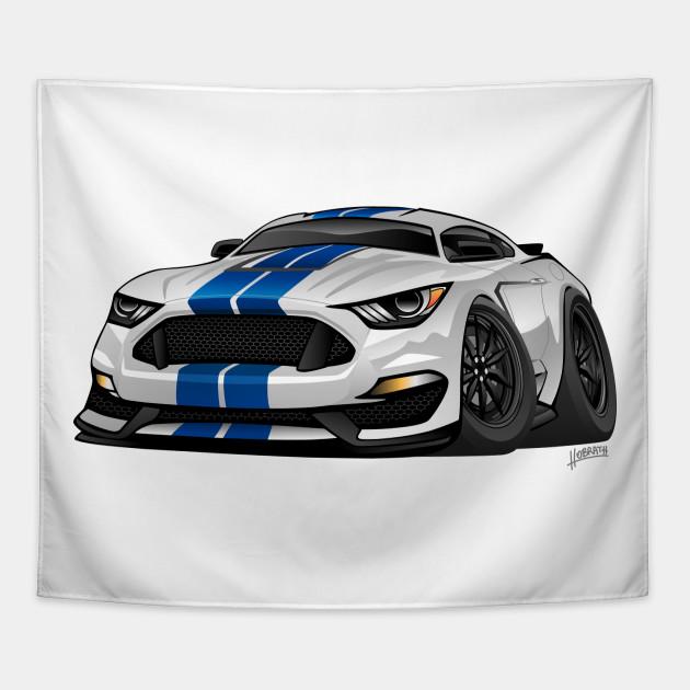 Modern American Muscle Car Cartoon Mustang Tapestry Teepublic