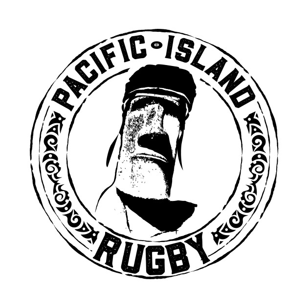 Easter Island Head Rugby Fan - White Text