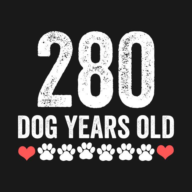 280 Dog Years Old 40th Birthday Funny Pug Lover Tshirt Hoodie