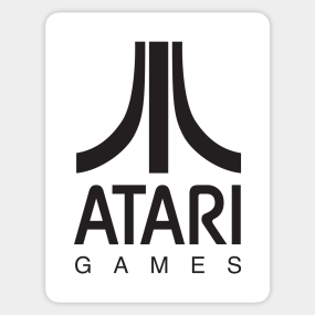 Atari Games Logo (Black) Sticker