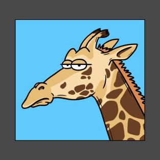 Giraffe is not amused
