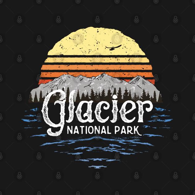 Vintage Glacier National Park Montana T-shirt Gift Souvenir