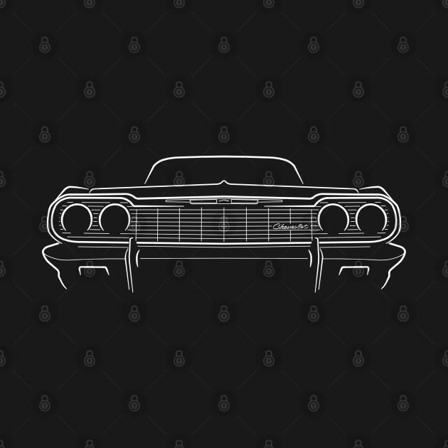 1964 Chevy Impala - front stencil, white