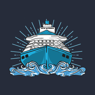 66f74c918 Cruise Cruising Ship Vacation Boat Trip Ocean T-Shirt