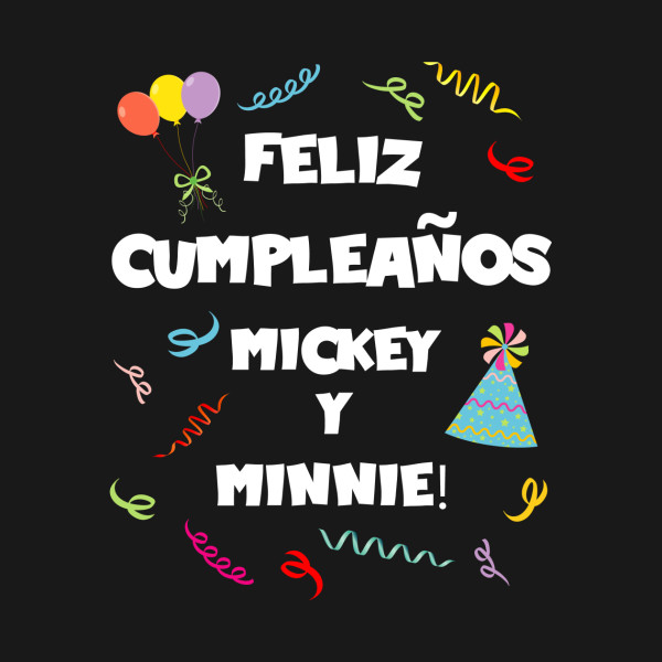 Feliz Cumpleanos Mickey Y Minnie Mickey Mouse Sticker Teepublic Uk