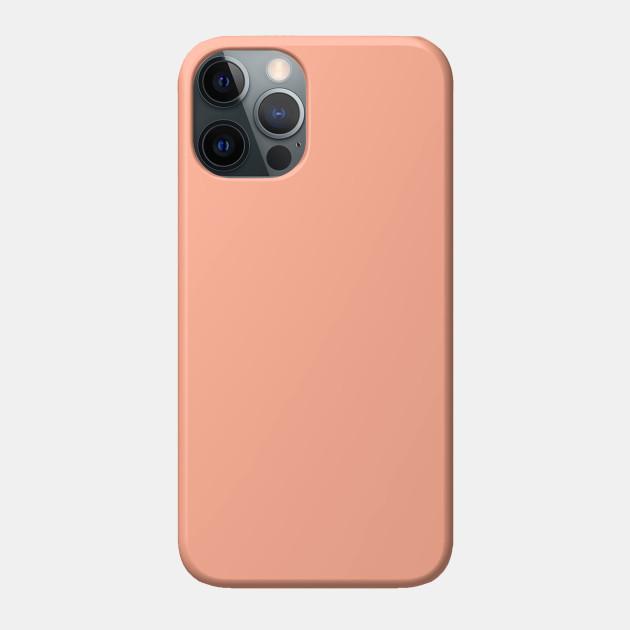 Peach Solid Color Peach Phone Case | TeePublic