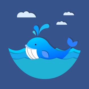 adorable blue whale t shirt