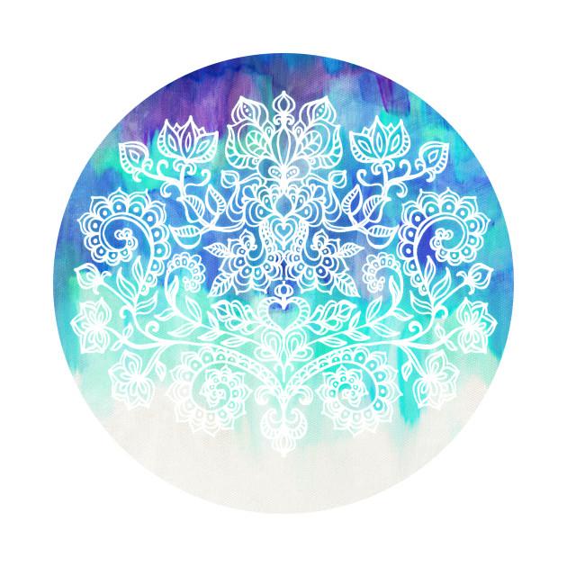 Indigo & Aqua Abstract