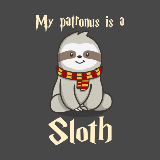 5d143775 My Patronus Is A Sloth T-Shirt Cute Funny Sloths Lover Gift T-Shirt
