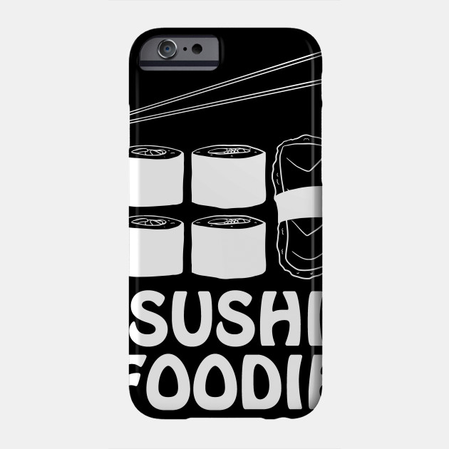 Sushi Foodie in White Text