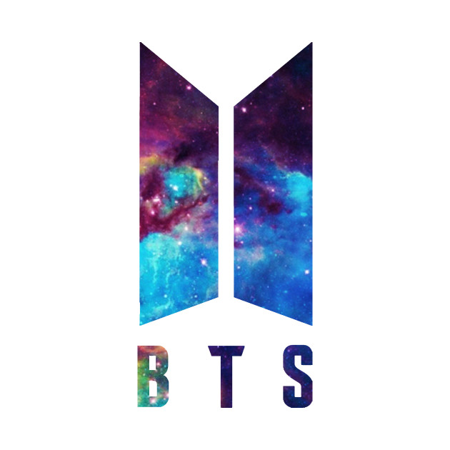 bts galaxy logo bts logo tshirt teepublic