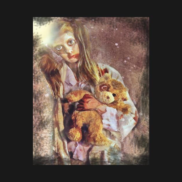 Zombie Girl with Teddy
