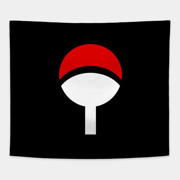 Uchiha Clan Symbol Art Tapestry Teepublic