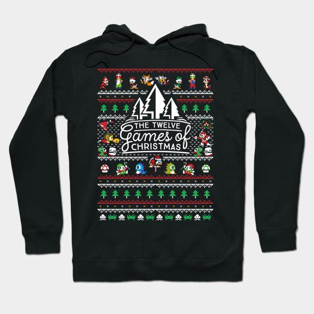 12 Games Of Christmas Ugly Christmas Sweater Nintendo Hoodie