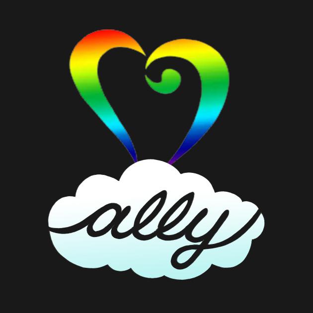 Rainbow Heart Lgbt Ally Shirt Lgbt Onesie Teepublic