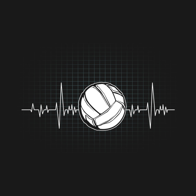 Volleyball Heartbeat Awesome Gift for Volleyball Players