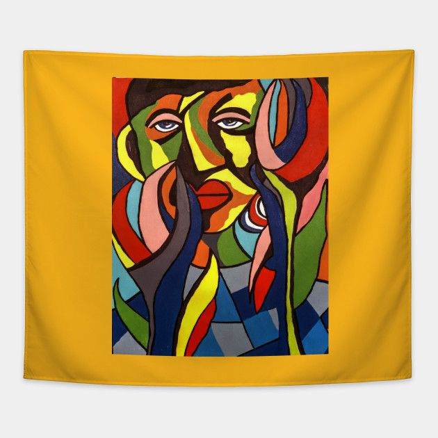 African Traditional Tribal Women Abstract Art Canvas Painting 3