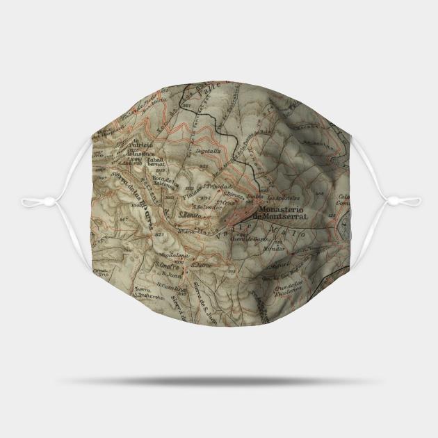 Vintage Montserrat Spain Map (1913)