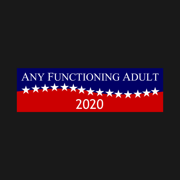 Any Functioning Adult - Politics Sign