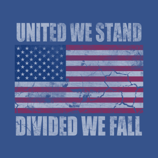 America United We Stand Divided We Fall t-shirts