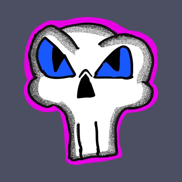 37309f07f Cartoon Skull - Skulls - T-Shirt   TeePublic