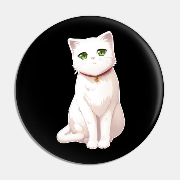 cat cute anime kitten design white cat
