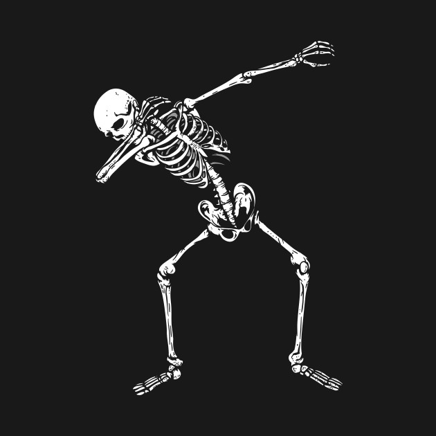 Dabbing Skeleton Halloween - Dabbing Skeleton Halloween - T-Shirt ...