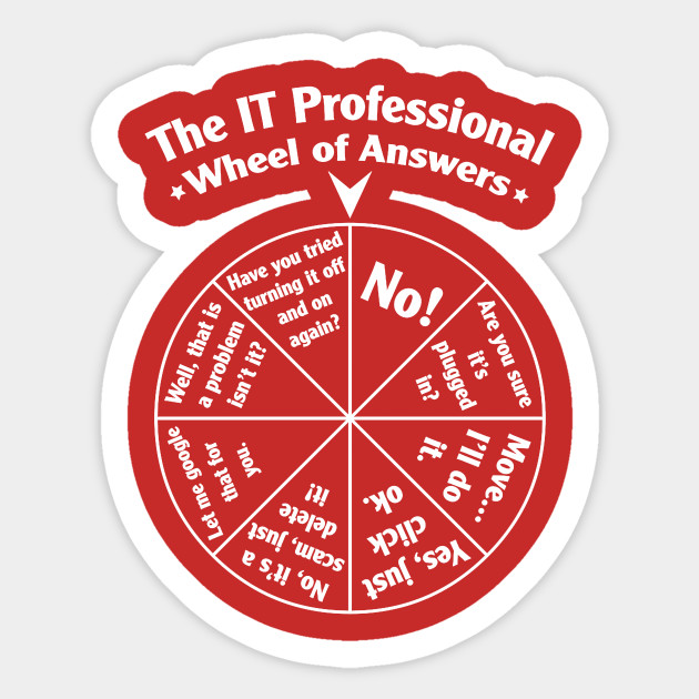 Wheel Of Answers Computers It Professional Programmer Desk Fortune
