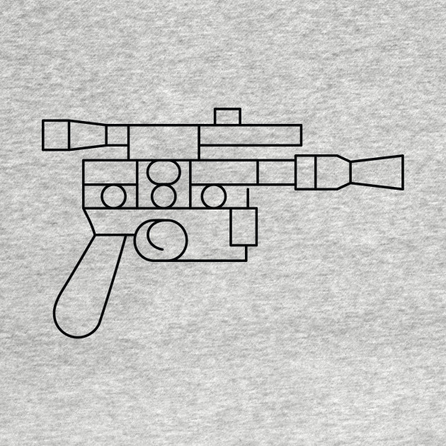 Star Wars: Han Solo Blaster - Simple Graphic