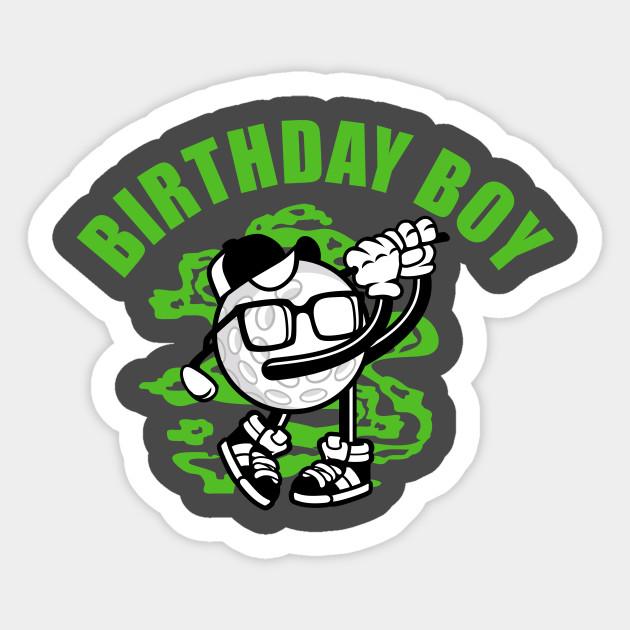 Birthday Boy Golfer Shirt Sticker
