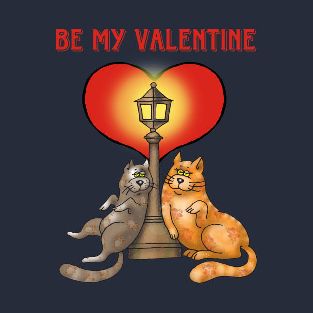 Sweet Cat Lovers Be My Valentine - Valentines Day Gift Idea