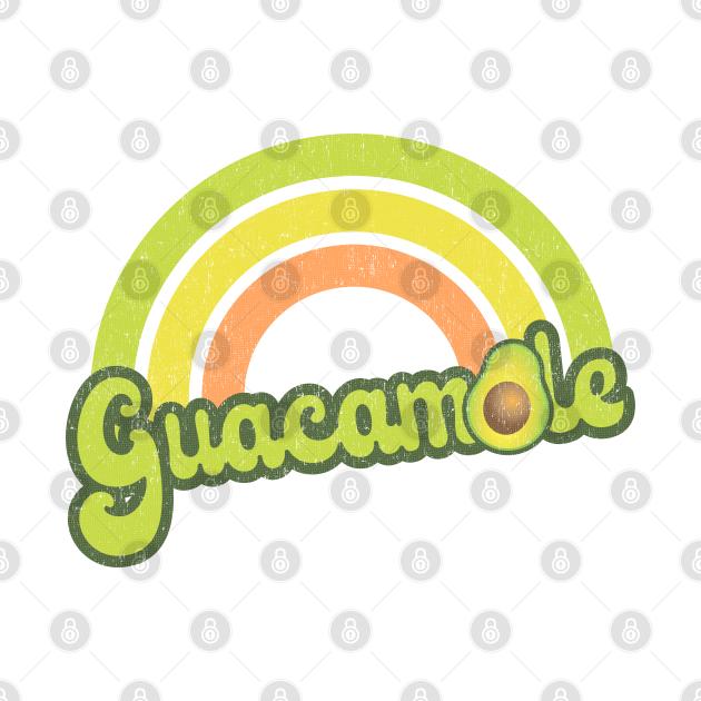 Retro Rainbow Guacamole